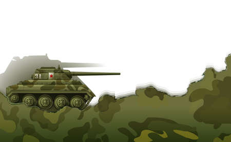 Illustration of a military tank on a white background