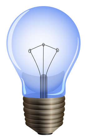 glows: Illustration of a blue light bulb on a white background