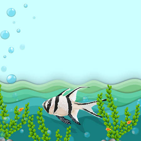 ectothermic: Illustration of a fish under the sea