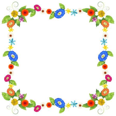margen: Ilustración de un diseño de la frontera de colores sobre un fondo blanco