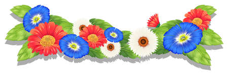 fresh flowers: Illustration of the colorful fresh flowers on a white background Illustration