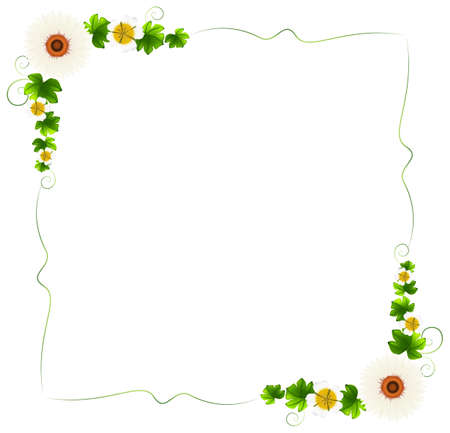 beautify: Illustration of a floral border on a white background