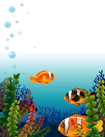 Illustration of a fishworld Illustration