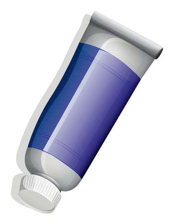 Illustration of a topview of a blue tube on a white background Vector