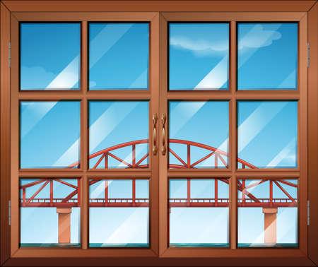 span: Illustration of a window across the bridge