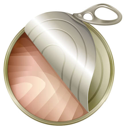 opener: Illustration of a topview of an open can on a white background Illustration