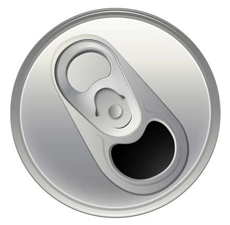 기밀: 흰색 배경에 음료 캔의 topview에 그림