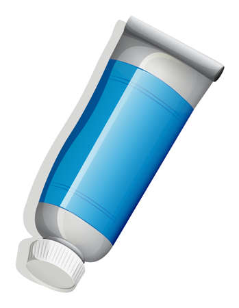 salve: Illustration of a birdeye view of a medicinal tube on a white background