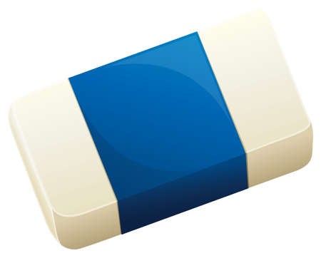 removing: Illustration of a topview of an eraser on a white background Illustration