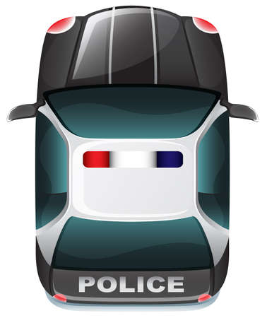 Illustration of a police vehicle on a white background Vector