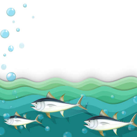 downunder: Illustration of an ocean with fishes