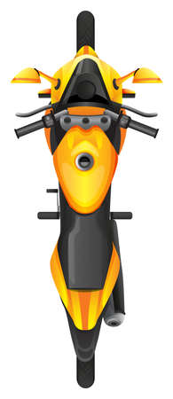 mopeds: Illustration of a topview of a motor vehicle on a white background