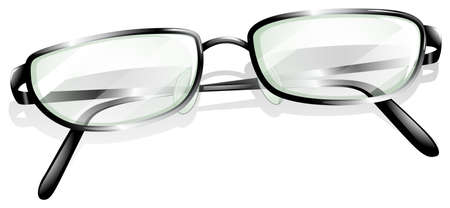 headpiece: Illustration of a topview of an eyeglass on a white background