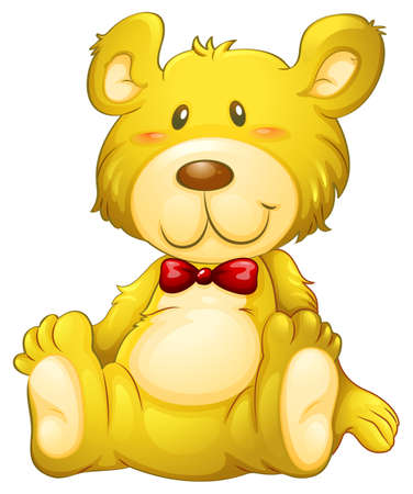 huggable: Illustration of a huggable yellow bear on a white background Illustration