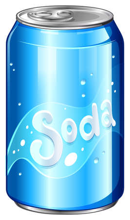 softdrink: Illustration of a can of soda on a white background Illustration