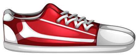 Illustration of a pair of shoes on a white background