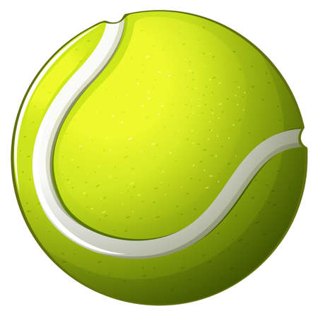 bounces: Illustration of a tennis ball on a white background