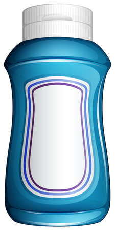 cold storage: Illustration of a blue generic bottle on a white background Illustration