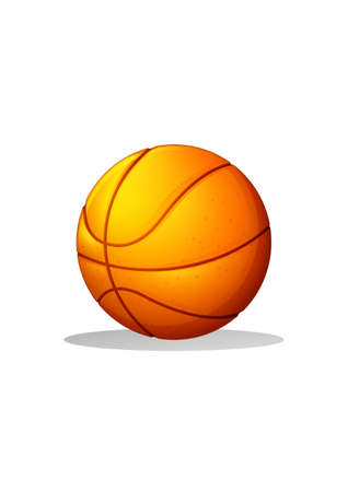 bounces: Illustration of a basketball ball on a white background Illustration