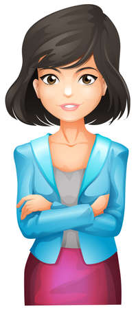 founder: Illustration of a businesswoman wearing a blue blazer on a white background