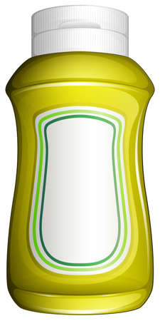 hot water bottle: Illustration of a yellow bottle on a white background