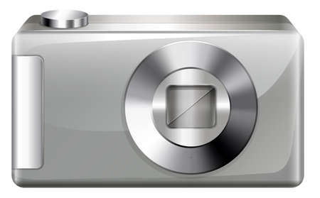Illustration of a digital camera on a white background