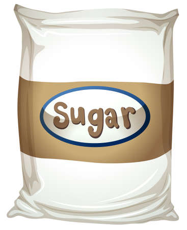 maltose: Illustration of a packet of sugar on a white background