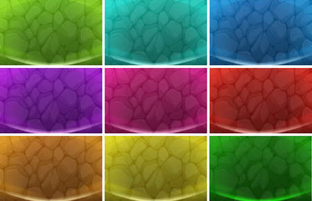 meanders: Illustration of the sets of backgrounds