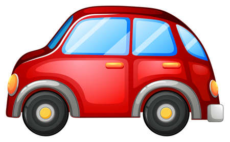 toy car: Illustration of a toy car on a white background