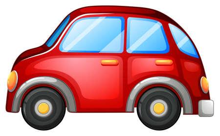 carritos de juguete: Ilustración de un coche de juguete en un fondo blanco