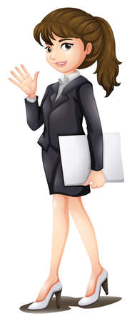 black woman: Illustration of a confident woman on a white background Illustration