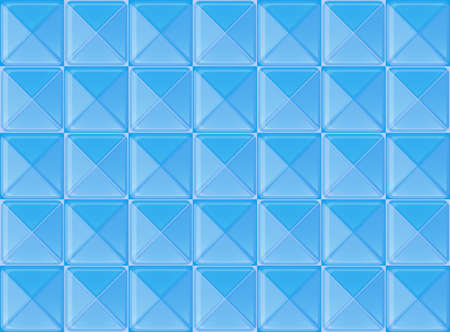 floor covering: Illustration of the topview of the floor tiles Illustration