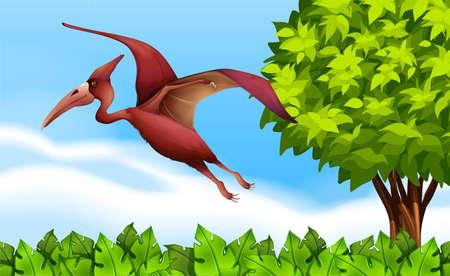 pennata: Illustration of a Pterodactyl Illustration