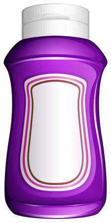 cold storage: Illustration of a purple generic bottle on a white background