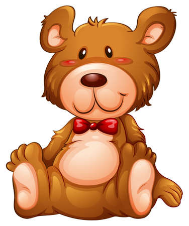 huggable: Illustration of a huggable brown bear on a white background