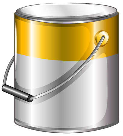 gray matter: Illustration of a yellow paint on a white background