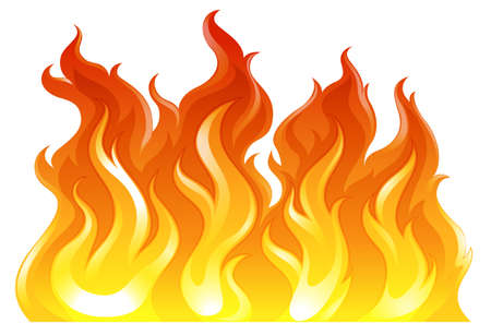 conflagration: Illustration of a fire on a white background