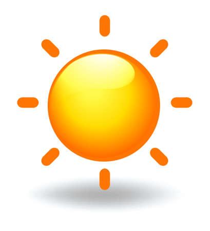 Illustration of a sun on a white background Illustration