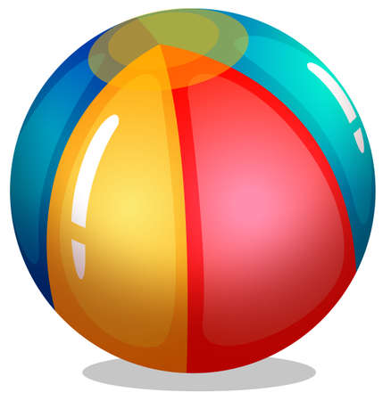 bounces: Illustration of a beach ball on a white background