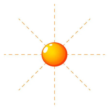anthropological: Illustration of a sunny climate on a white background