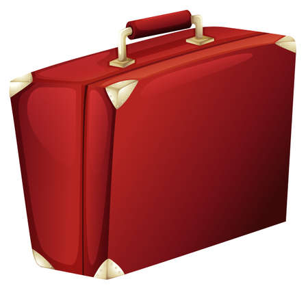case: Illustration of a red case on a white background