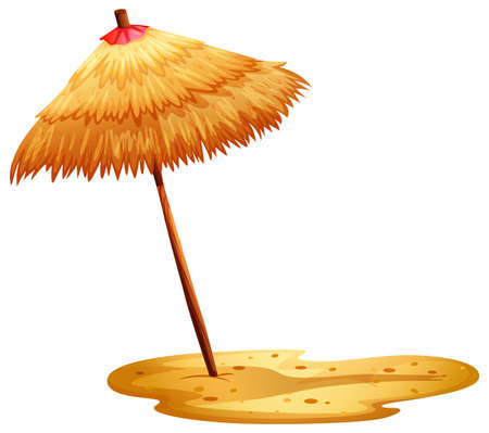 handheld device: Illustration of a beach umbrella on a white background