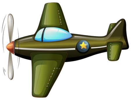 jetplane: Illustration of a vintage plane on a white background