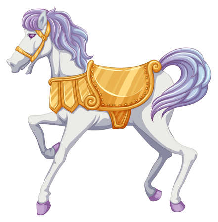 lllustration of a carrousel horse on a white background Vector