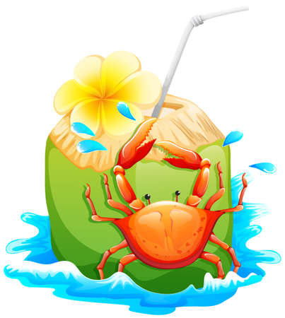 sip: Ilustraci�n de una bebida refrescante de verano en un fondo blanco Vectores