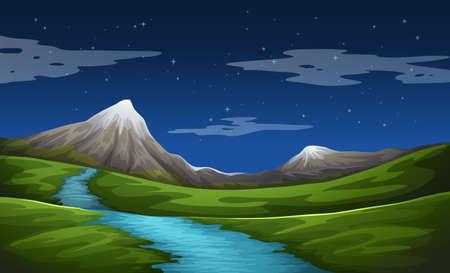 beaux paysages: Illustration d'un beau paysage