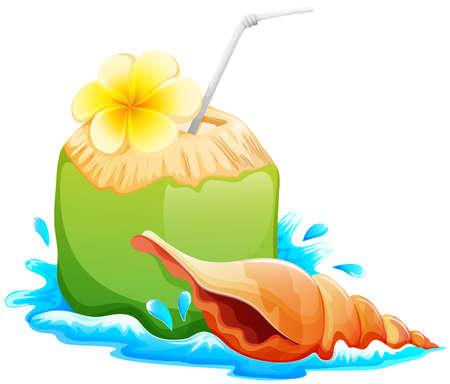 sip: lllustration de una bebida refrescante y saludable verano en un fondo blanco