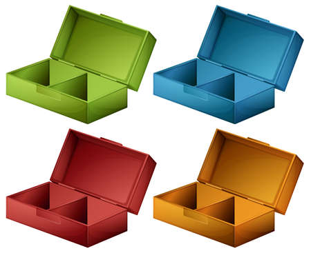 lllustration: lllustration of the coloured boxes on a white background