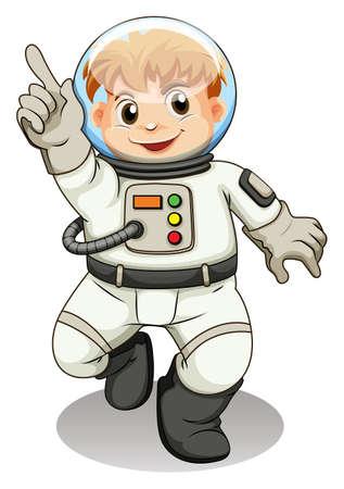 lllustration: lllustration of a young explorer on a white background Illustration