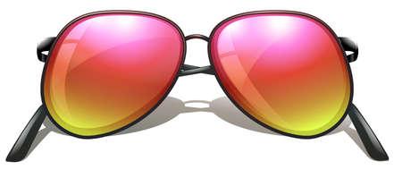 lllustration: lllustration of an eyeglass on a white background